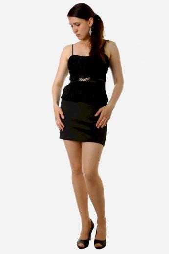Glara Krátké černé šaty 8601