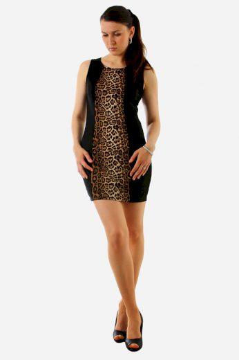 Glara Krátké šaty se zvířecím potiskem 8900