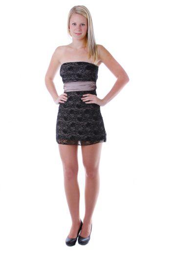 Glara Krajkové mini šaty bez ramínek 22778