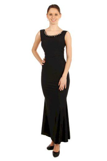 Glara Dlouhé plesové šaty s aplikací 38149