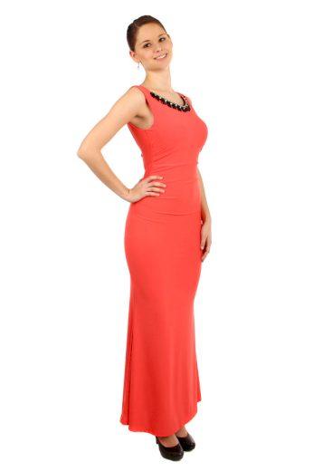 Glara Dlouhé plesové šaty s aplikací 38150