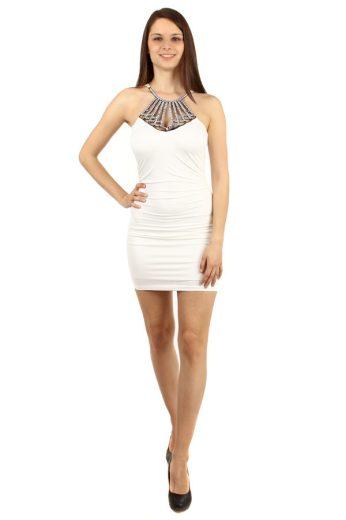 Glara Mini šaty se zavazováním za krk 50926