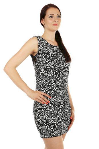 Glara Vzorované šaty s krajkou 53826
