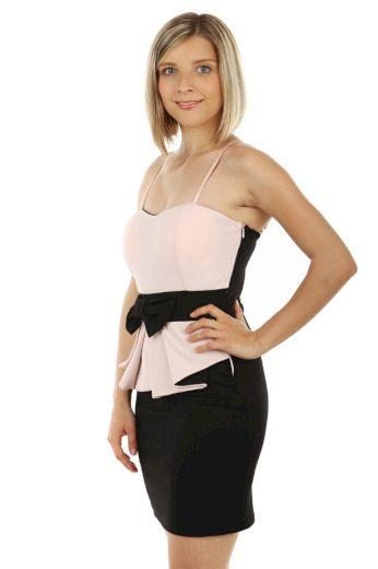 Glara Mini šaty s mašlí a volánkem 56505