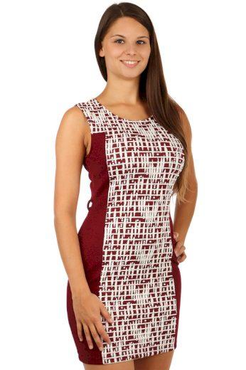 Glara Krátké vzorované šaty 77485