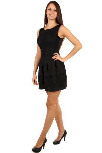 Glara Elegantní dámské večerní šaty s krajkou 88352