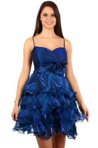 Glara Večerní nadýchané volánkové šaty na ples 94460