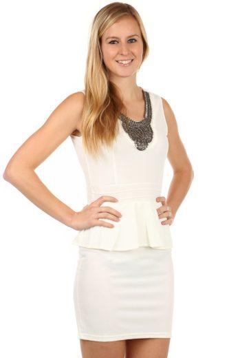 Glara Krátké elegantní šaty s volánem 97725