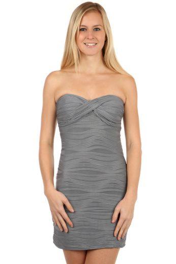 Glara Vroubkované krátké šaty bez ramínek 97852