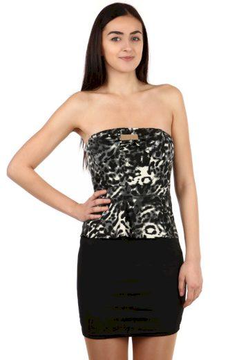 Glara Krátké večerní šaty bez ramínek 108042