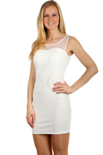 Glara Krátké šaty s krajkou ozdobou 123132