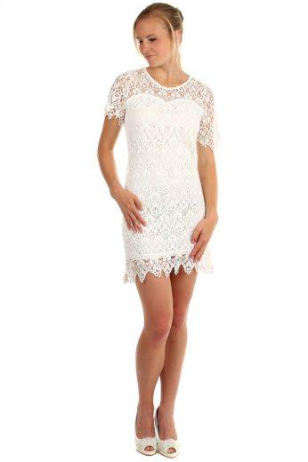 Glara Krajkované šaty s krátkým rukávem 166467