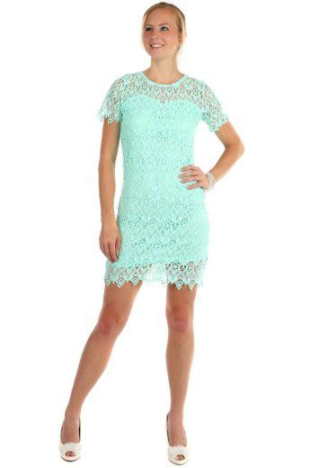 Glara Krajkované šaty s krátkým rukávem 166473