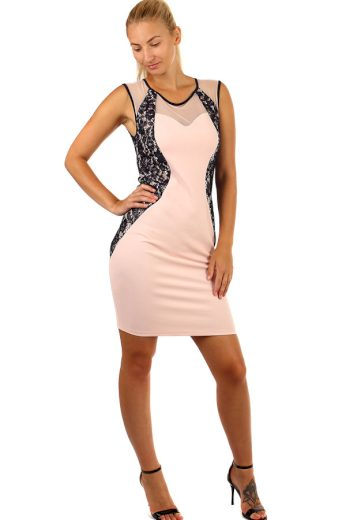 Glara Luxusní společenské šaty s krajkou 239846