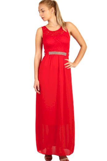 Glara Dlouhé večerní šaty s krajkovým vrškem 282763