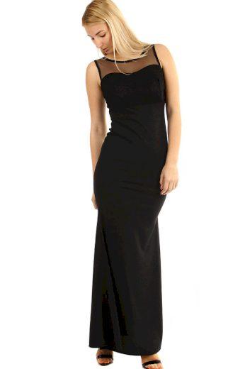 Glara Dlouhé plesové šaty s krajkovým vrškem 290359