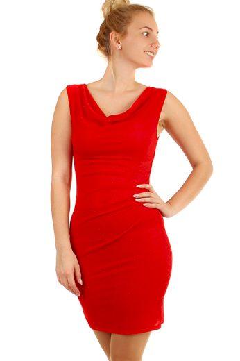 Glara Třpytivé večerní krátké šaty s širokými ramínky 295997