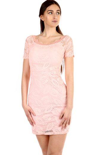Glara Dámské krátké celokrajkové šaty do tanečních 304253