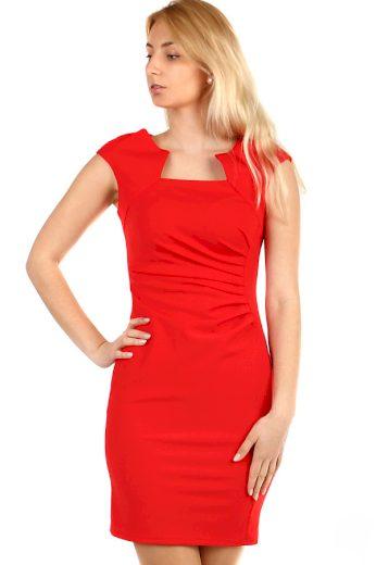 Glara Dámské pouzdrové šaty bez rukávů na ples 498144