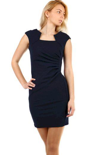 Glara Dámské pouzdrové šaty bez rukávů na ples 498151