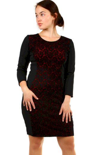 Glara Dámské společenské šaty nadměrná velikost 339845
