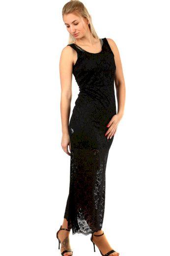 Glara Plesové šaty s výraznou krajkou 399117