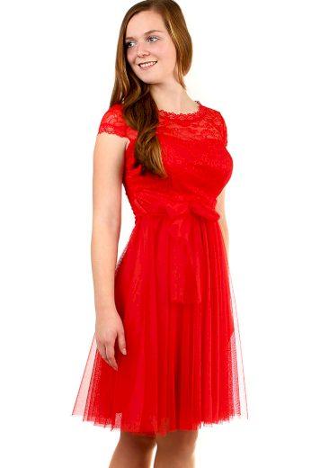 Glara Plesové šaty s krajkou 411419