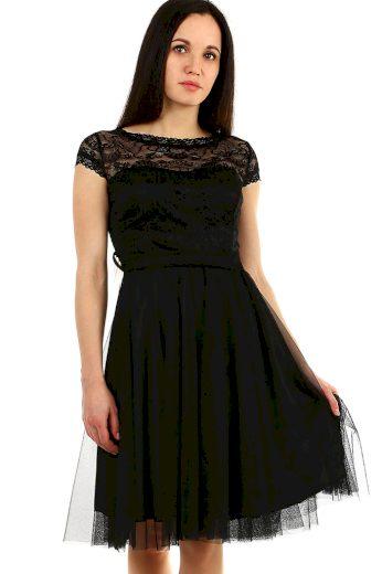 Glara Plesové šaty s krajkou 415591