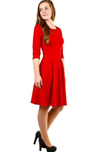 Glara Červené áčkové šaty 413072