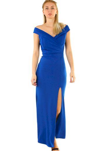 Glara Plesové šaty s rozparkem 418687