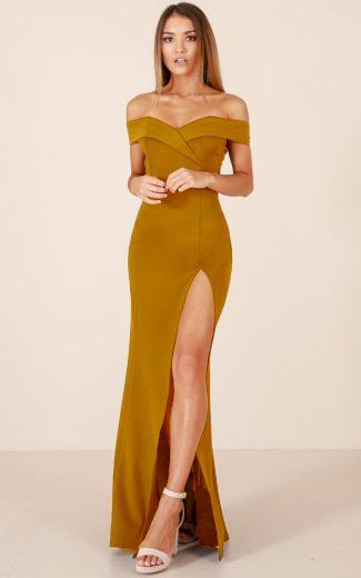 Glara Plesové šaty s rozparkem 418756