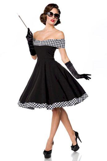 Glara Pin up dámské šaty s odhalenými rameny 424050