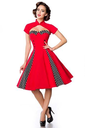 Glara Vintage kruhové šaty s bolerkem 424089