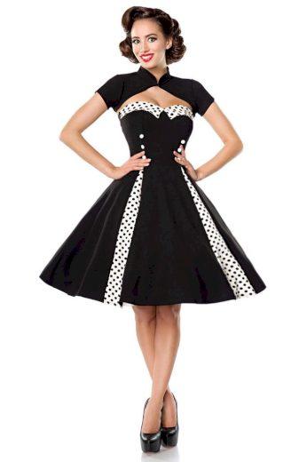 Glara Vintage kruhové šaty s bolerkem 424114