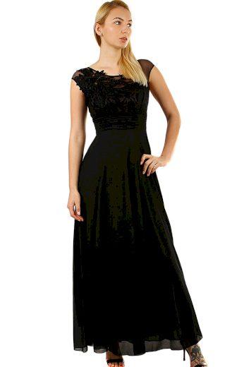 Glara Dlouhé dámské šaty na ples 426062