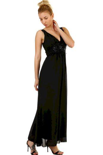Glara Dlouhé společenské šaty s výšivkou a korálky 426140