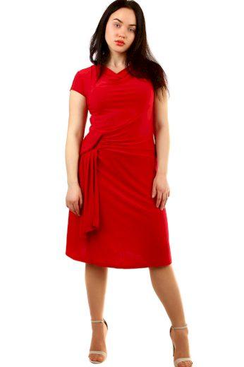 Glara Večerní společenské šaty s krátkým rukávem 432472