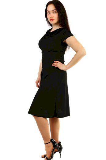 Glara Večerní společenské šaty s krátkým rukávem 432504