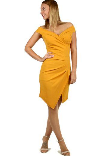 Glara Krátké společenské šaty s odhalenými rameny 484575