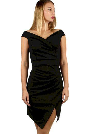 Glara Krátké společenské šaty s odhalenými rameny 484579