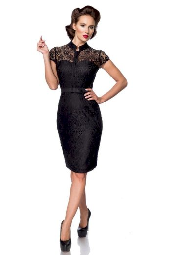 Glara Společenské krajkové luxusní šaty 489793