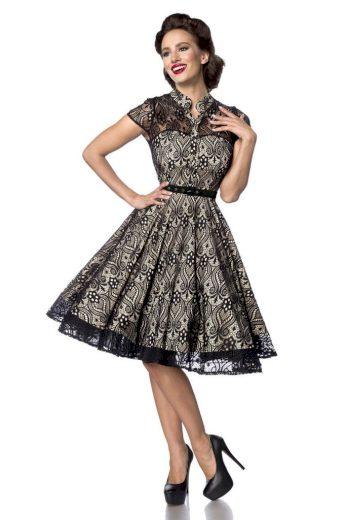 Glara Luxusní krajkové vintage šaty 489823