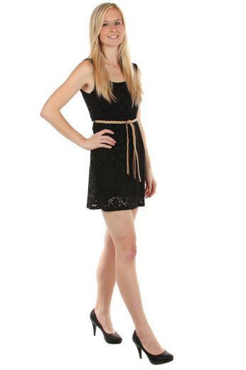 Glara Krajkované letní šaty s páskem 61010