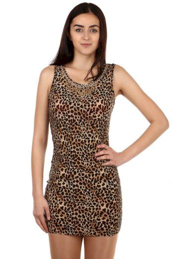 Glara Mini šaty s leopardím potiskem 108065