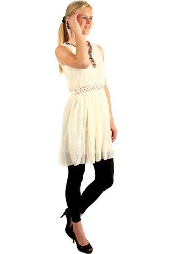 Glara Dámské krátké retro šaty s krajkou bez rukávů 142796