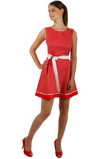 Glara Puntíkaté šaty s páskem v pase 151742