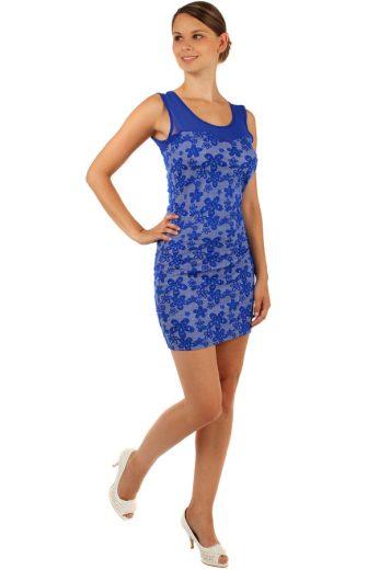 Glara Květované šaty s úzkým páskem 155190