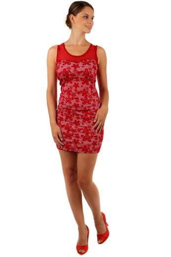 Glara Květované šaty s úzkým páskem 155203