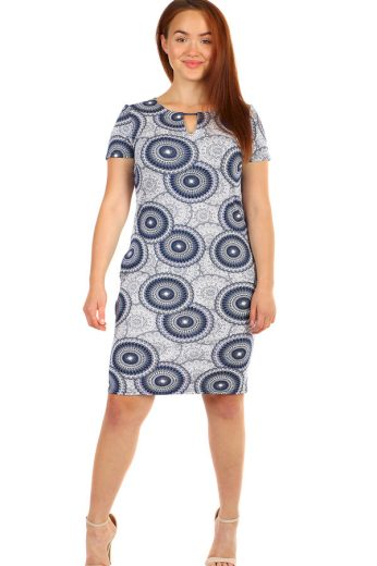 Glara Dámské šaty s krátkým rukávem 237625
