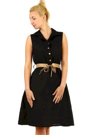 Glara Košilové dámské šaty ze lnu 319408
